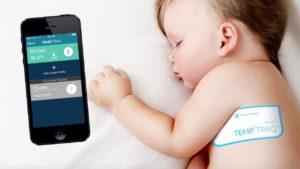 Thermomètre médical connecté bébé dort